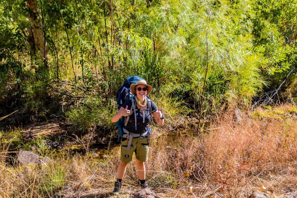 Kelly is ready to start the Jatbula Trail