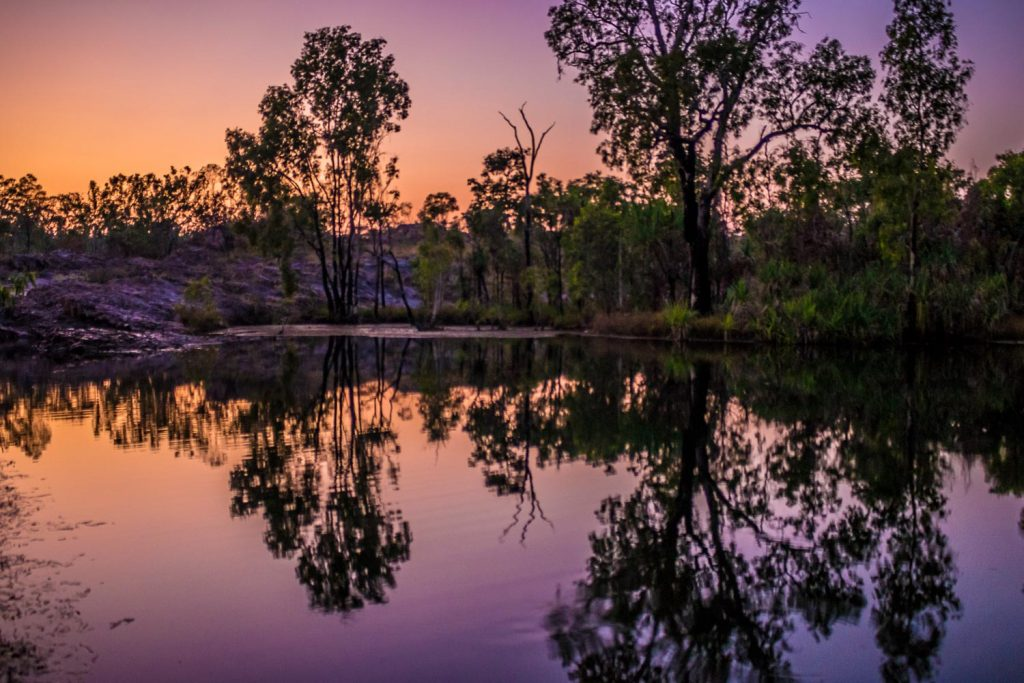 Sunset at Sandy Camp Jatbula Trail