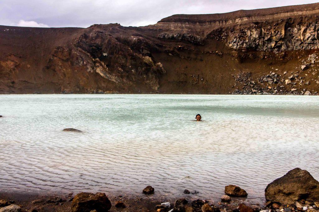 Viti Crater lake Iceland