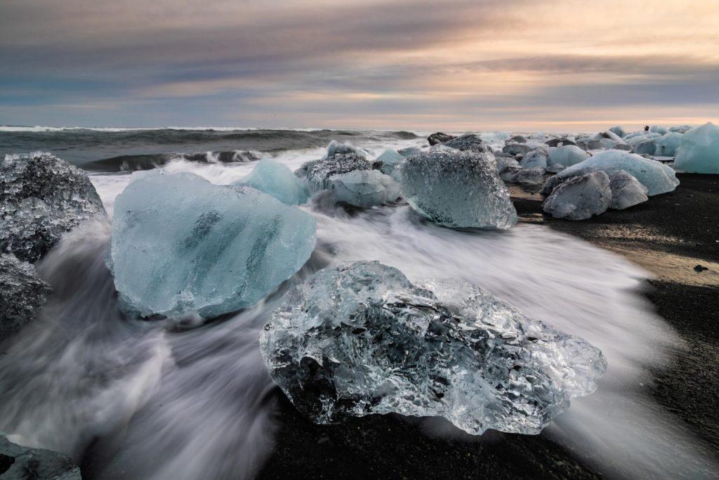 Diamond Beach Iceland black sand