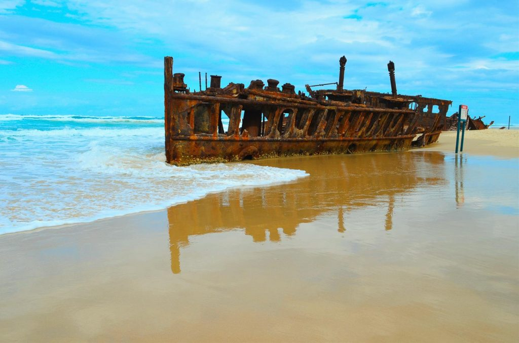 Route guide to brisbane and cairns ships wreck frasers island