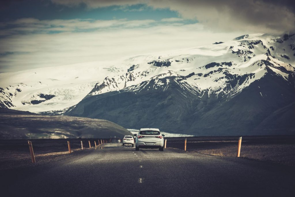 Driving on Icelandic road