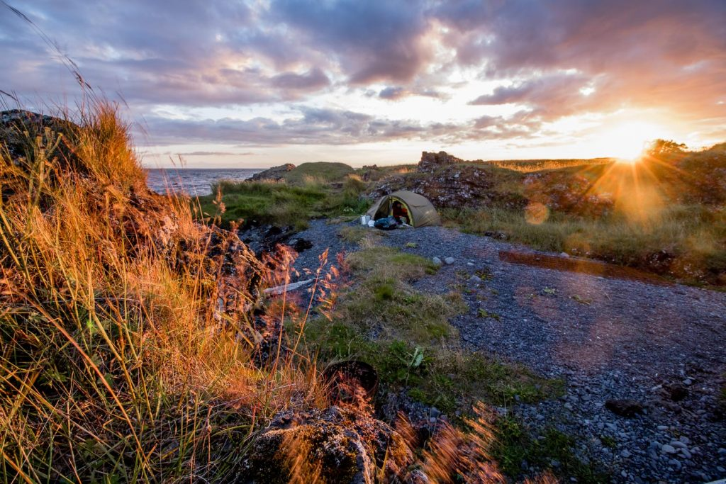 Camping nature Iceland