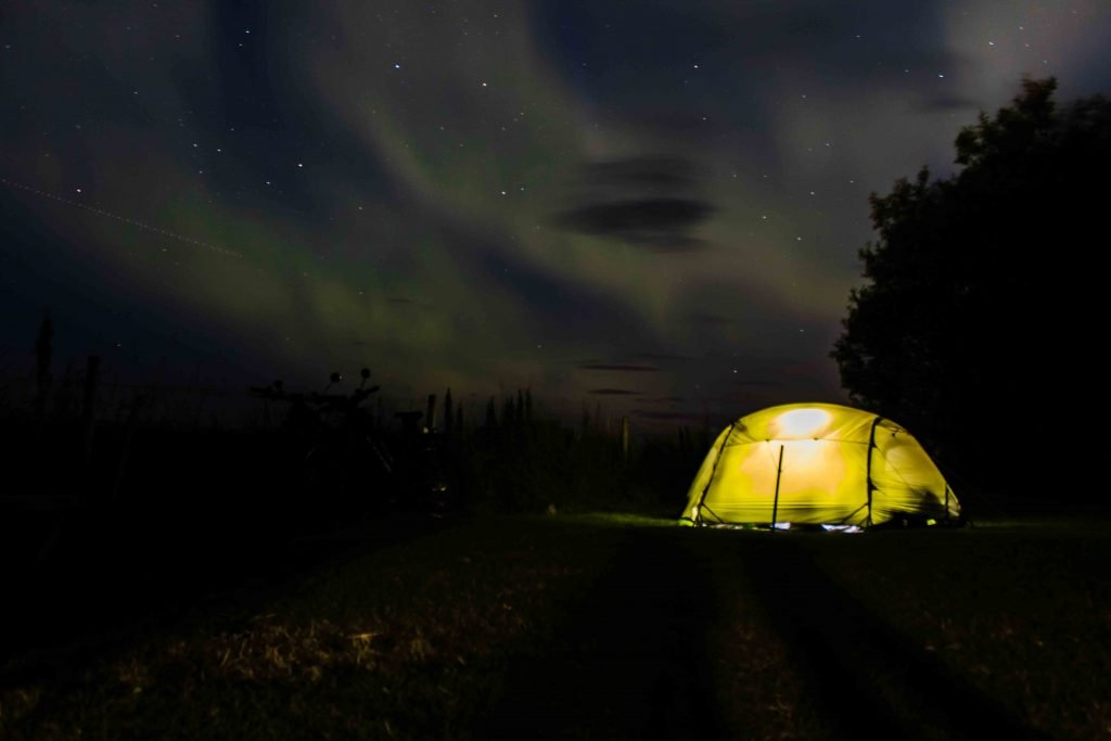 Wild Camping Iceland Northern Lights