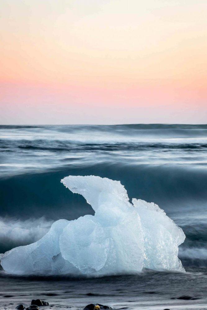 Iceblock Black Beach Diamond Beach