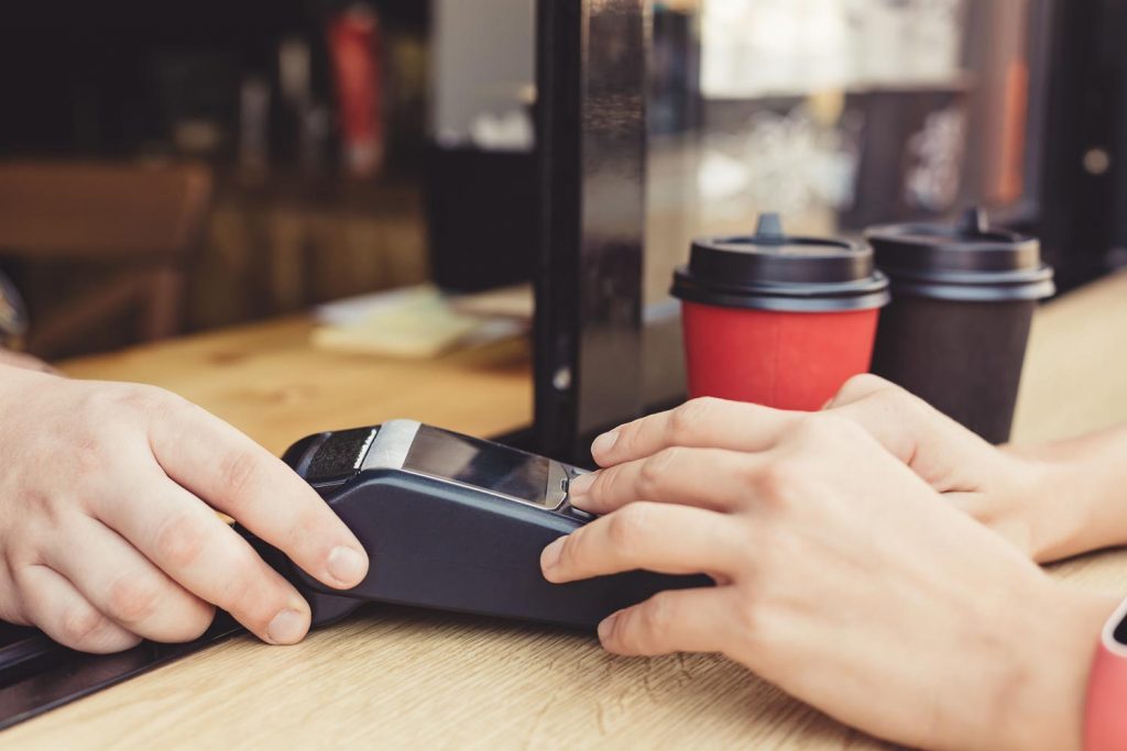 Use your Credit Card in a cafe