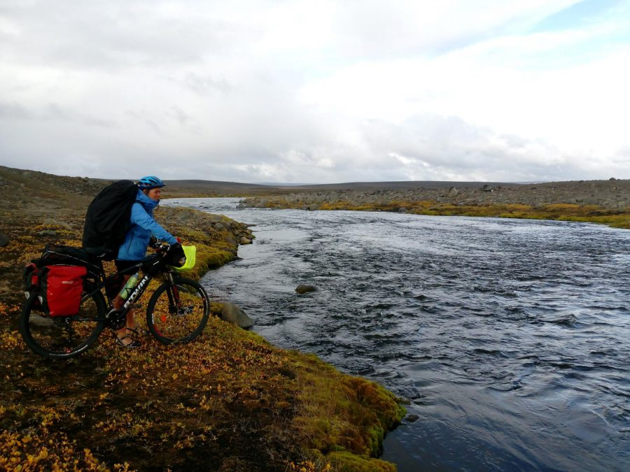 cold weather camping - hypothermia - glacier river crossing iceland