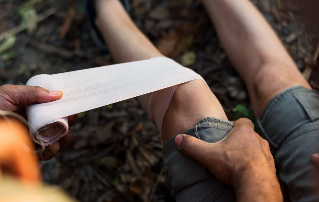 First aid during a backpacking trip