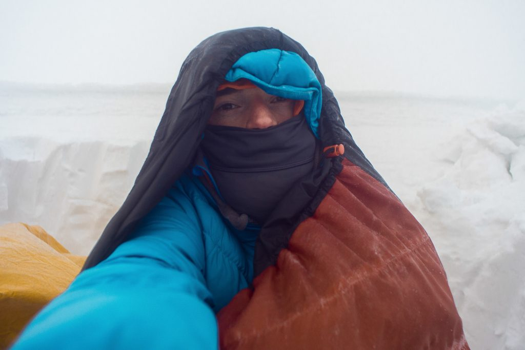seek shelter during a backpacking trip