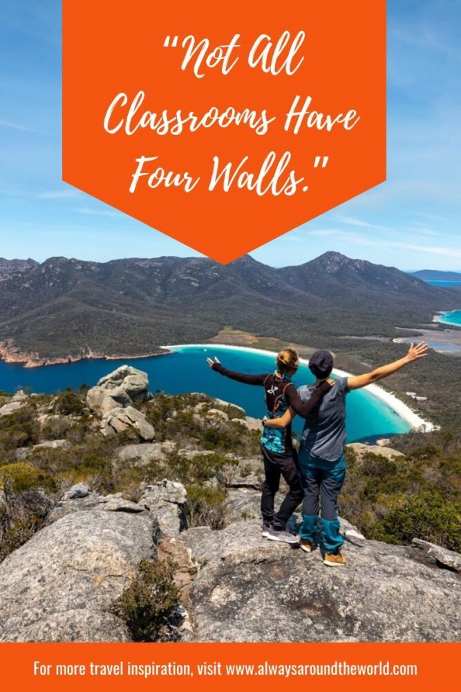 "Travel Quote: ""Not all classrooms have four walls"""