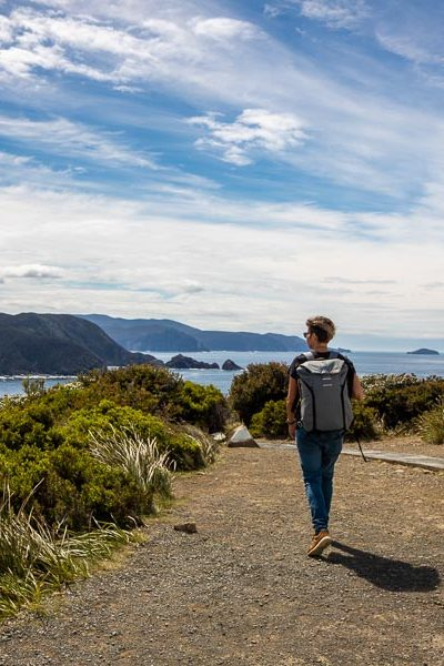 Kelly on the Bruny Island Lighthouse Walk