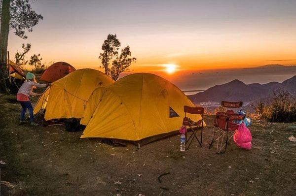 Camping mount Batur