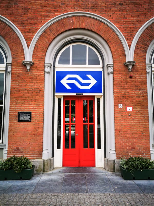 Entrance of NS Train Station in the Netherlands