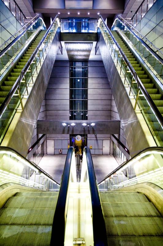 Underground metro station in the Netherlands