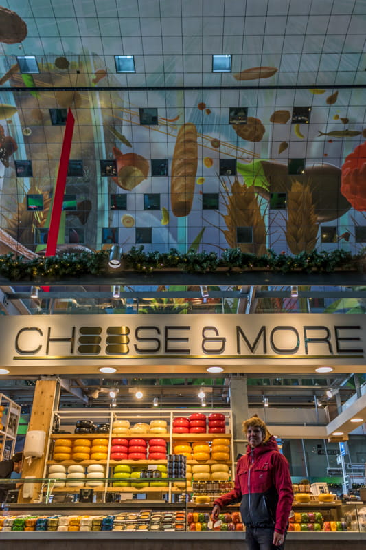 Cheese stand in Rotterdam Markthal