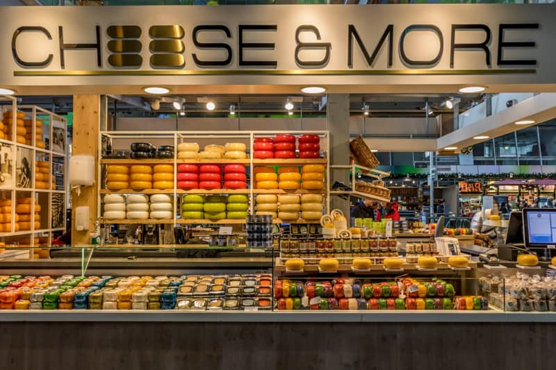 Cheese in the Netherlands in the Markthal Rotterdam