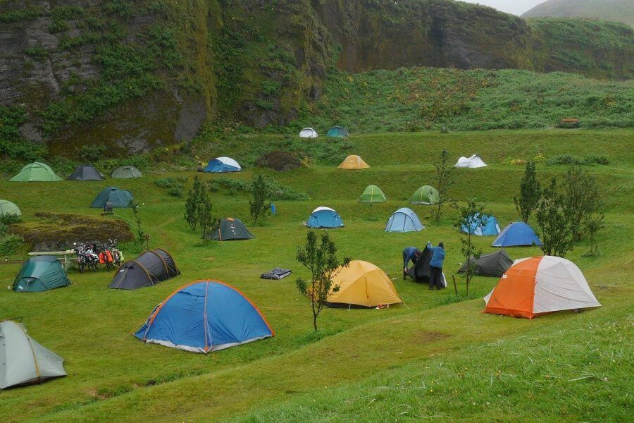 Iceland group camping