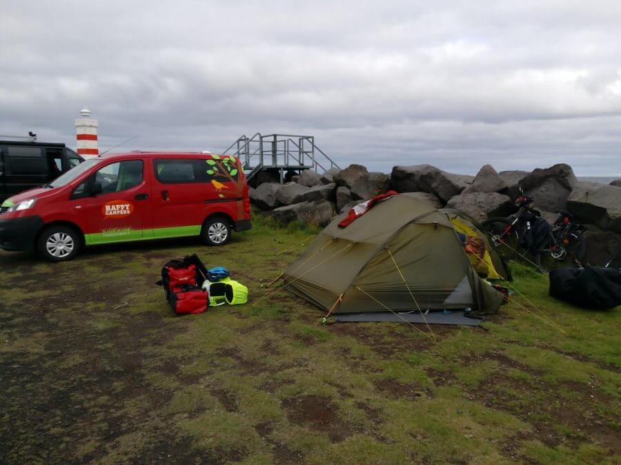 Camper and Tent Camping Iceland