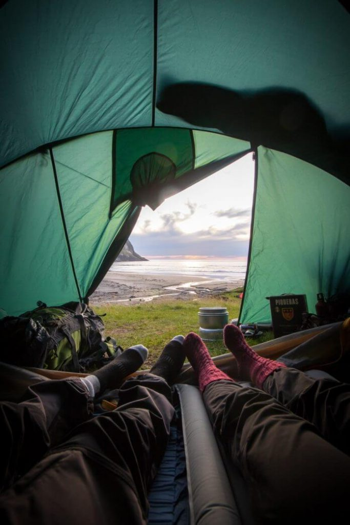 Camping Iceland Enjoying