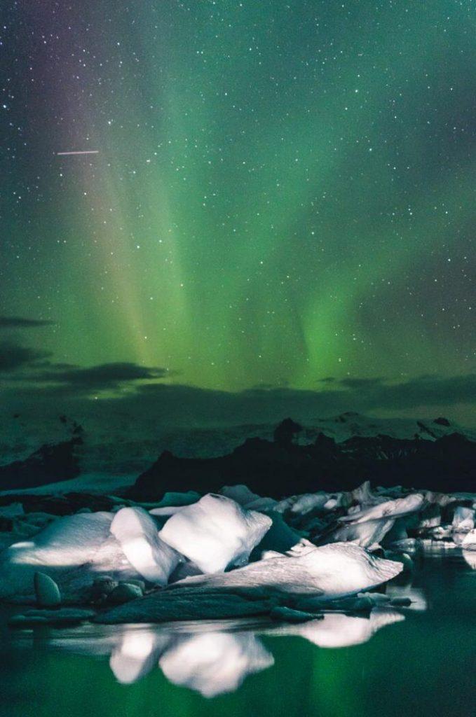 Diamond Beach Iceland Jokulsarlon Northern Lights