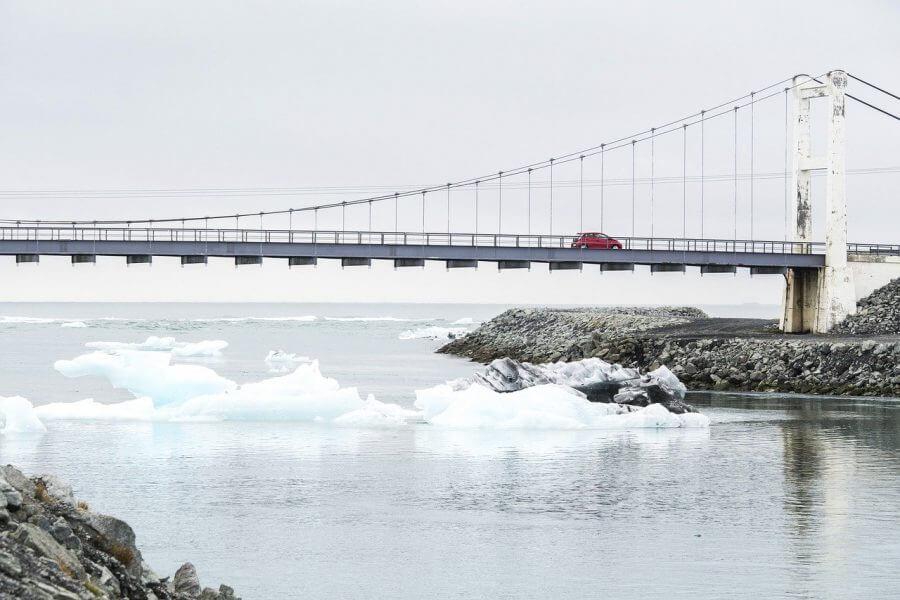 Diamond beach Iceland Bridge
