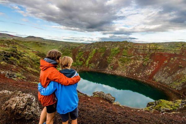 Iceland Golden Circle Kerid map Together