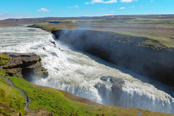 Iceland Golden Circle map Waterfall summer time
