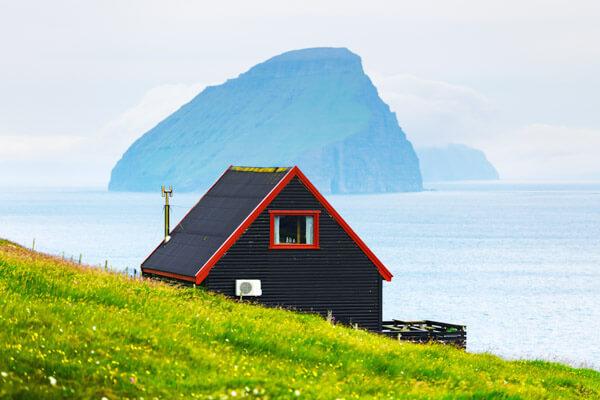 Hut on Faroe Islands