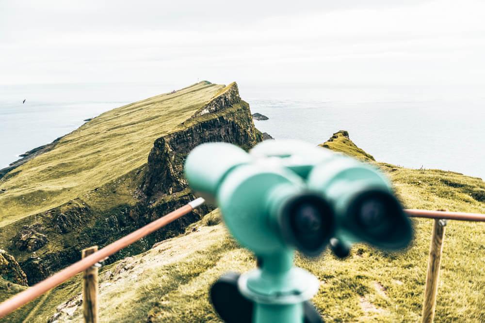 Bird watching Faroe Island