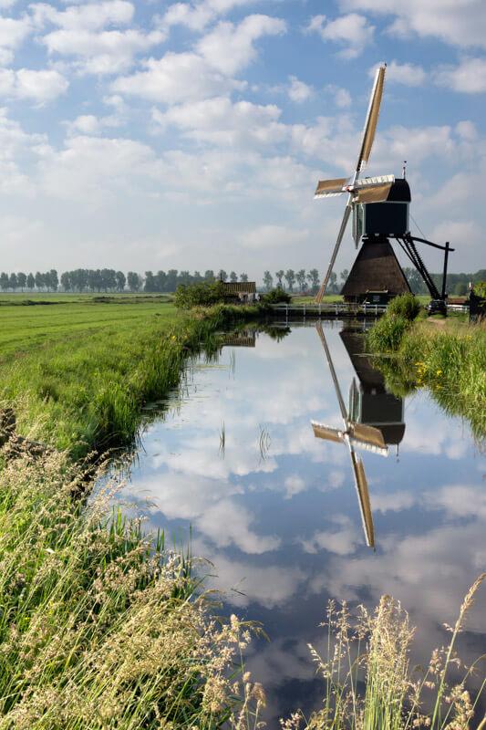 Dutch Windmill in Zuid Kennemerland