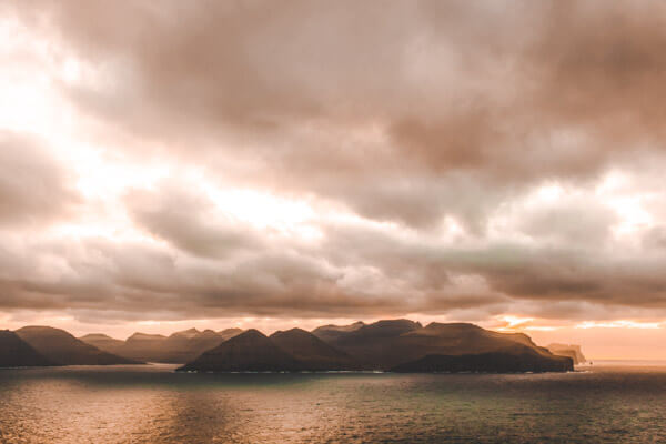 Sunset view from the Kallur Lighthouse