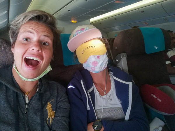 Face mask long flights
