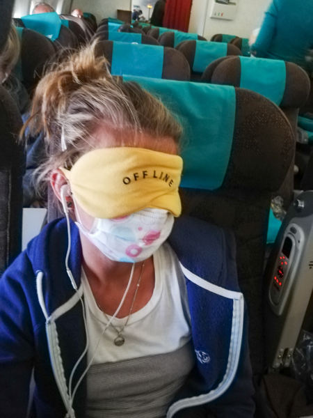 Face mask long flights