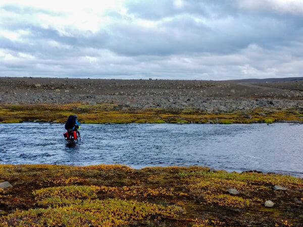 Bike touring Iceland