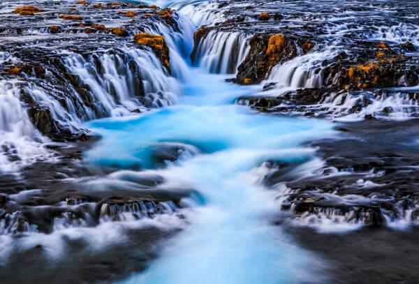 Bruarfoss Iceland Waterfall