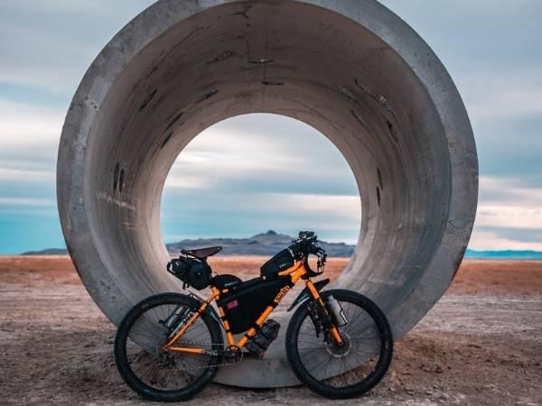 Bikepacking bike frame