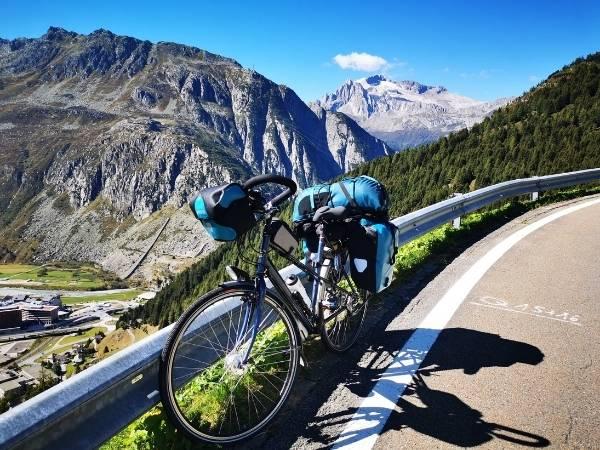 Bike touring bike frame