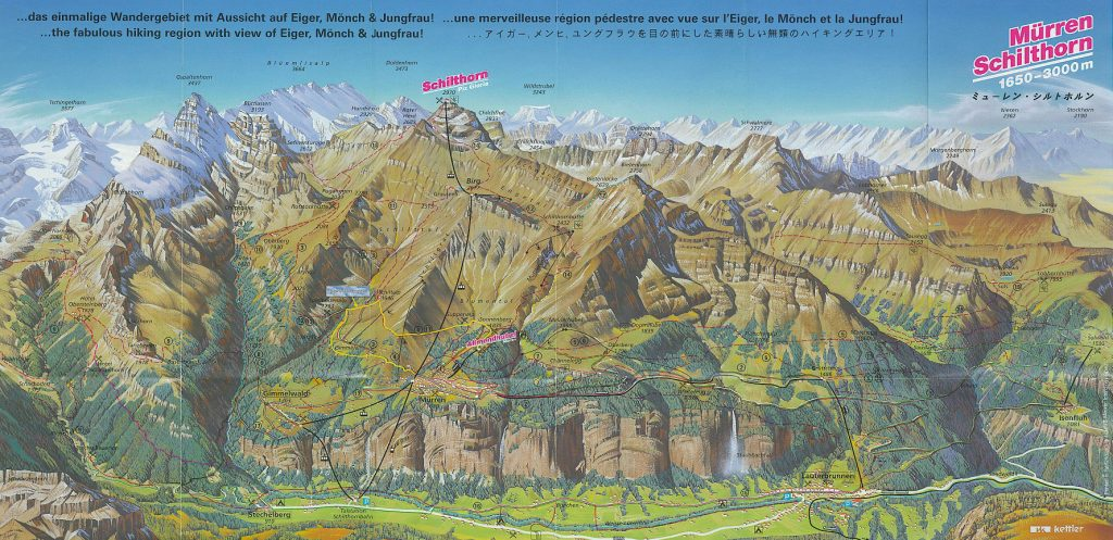 Murren Hiking Trail Map