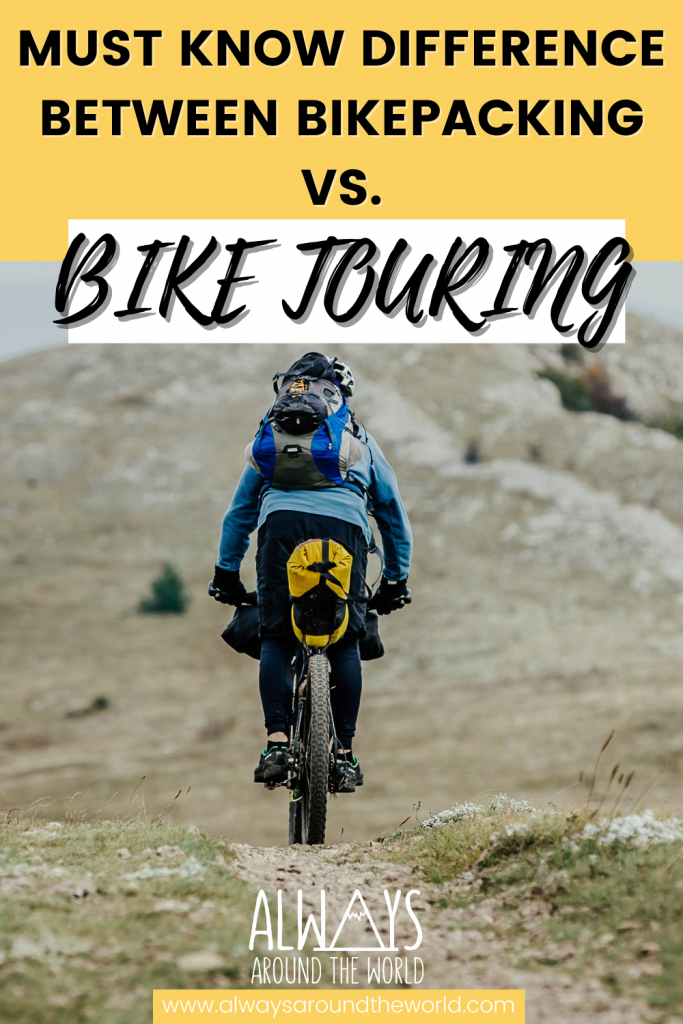 Bikepacking vs bike touring you need to know the difference #bikepacking #biketouring #cycletouring #cycling