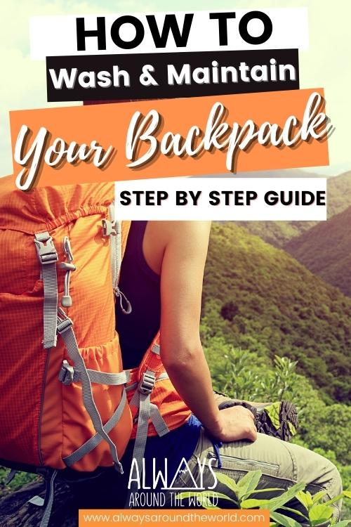 How to wash & maintain your backpack step by step