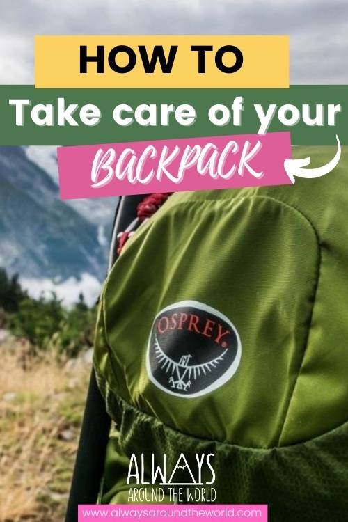 How to wash your backpack