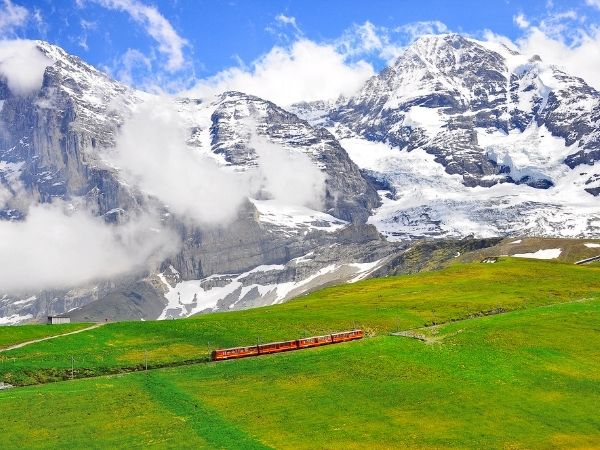 Train to Jungfraujoch Switzerland