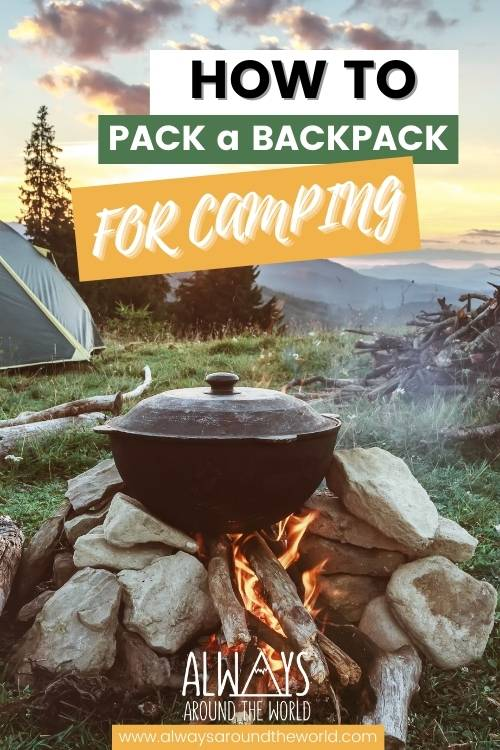 How to pack a backpack for camping #camping #backpacking #packing
