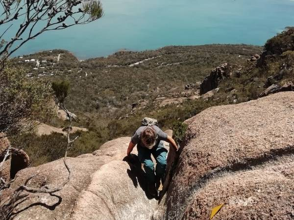 Hiking Mount Amos in Tasmania