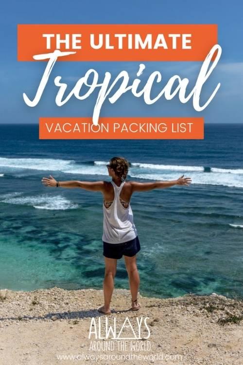 Tropical packing list pins