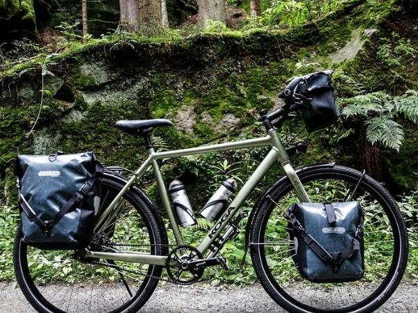 Bike pannier back and front