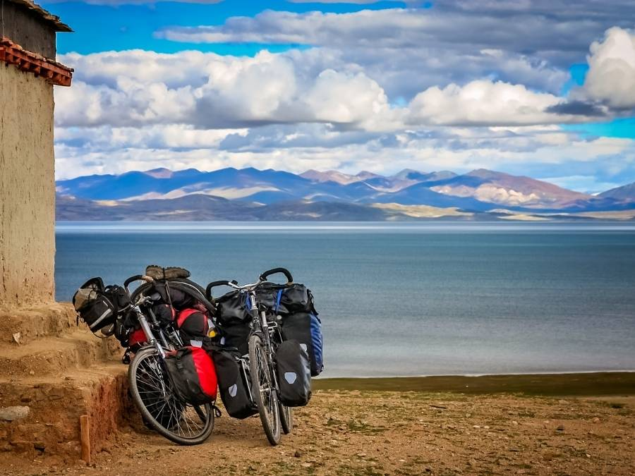 Best bike panniers in a beautiful landscape