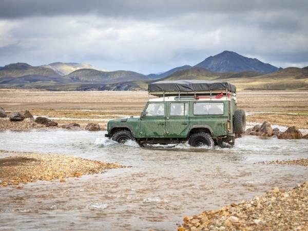 Iceland Landmannalaugar Jeep