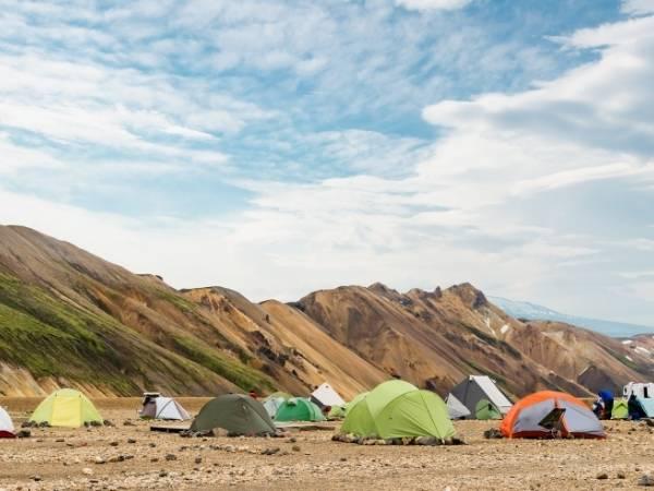 Landmannalaugar hike Iceland camping