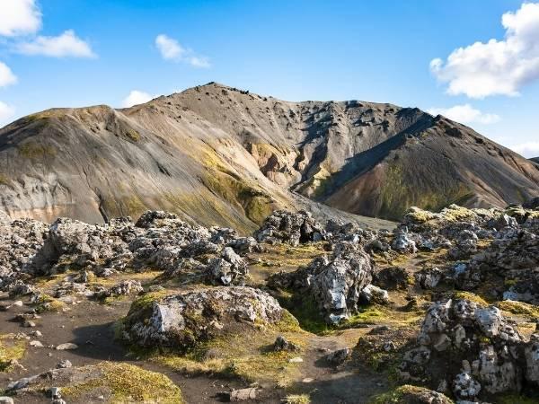 Laugahraun hike in Iceland